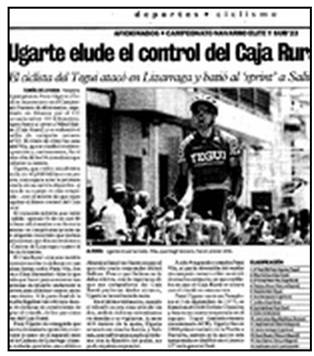Noticia Equipo Ciclista Tegui