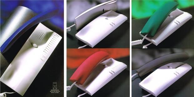 Teléfonos Serie 7 Blanco, Negro, Azul, Verde y Rojo